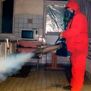 Профессиональная обработка от тараканов горячим туманом
